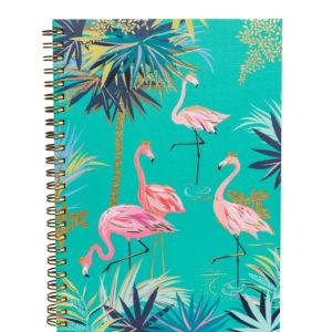 Sara Miller A5 Notebook with Flamingos